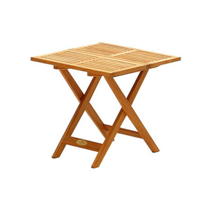 Perfect alongside one of our teak recliners  carvers or chairs  this occasional table combines the s