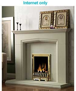 Unbranded Allerton Stone and Brass Gas Suite