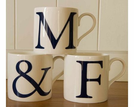 Alphabet Initial and Ampersand Mugs - Set of ThreeIf you are looking for that special Anniversary gift or Wedding present, this beautiful set of initial mugs are perfect.The set includes two letter mugs and an `and` mug. The mugs are made from high q