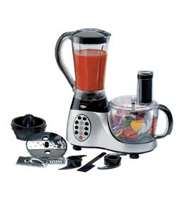 1000 watts. 1kg dry weight capacity. 1.5 litre bowl capacity. 1.5 litre blender capacity. 8 pre set