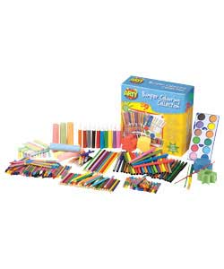 Only at Argos. Contents include : 30 mini colouring pencils, 40 fibre pens, 48 wax crayons, 24