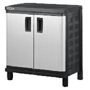 This Stanley B1 floor cabinet comes in black/silver colour that features 1 single compartment. This