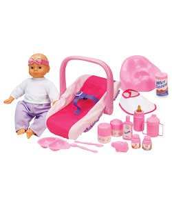 Car seat, potty and accessories for your doll. Doll not included. For ages 3 years and over.