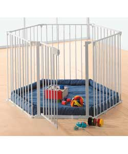 Can be used as a playpen, room divider, fire surround or safety gate