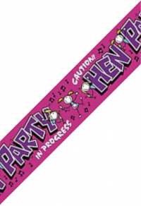Stake out your table with a colourful banner on your hen night