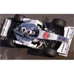 A 143 scale model of Takuma Satos first test drive in a BAR, at Barcelona in December 2000. This