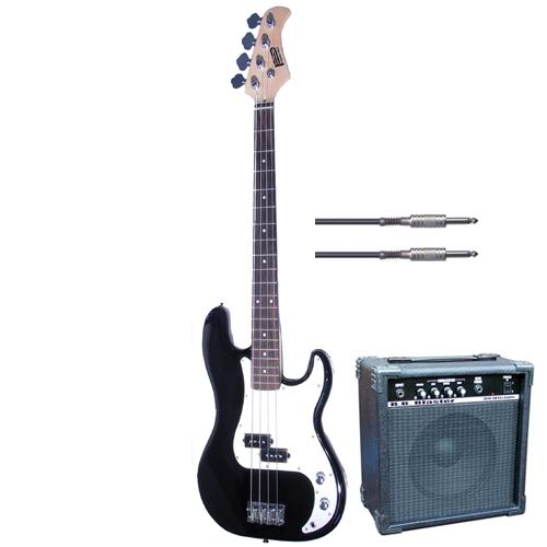 Great value package including the Gear4music Bass Guitar in Black with a 10 Watt BB Blaster
