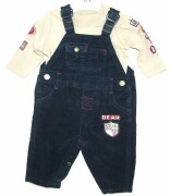 Navy cord dungarees with adjustable shoulder straps