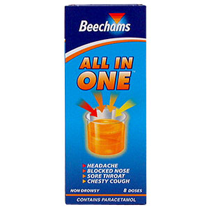 Beechams All-In-One provides all the relief you need for cold symptoms, including a chesty cough. Be