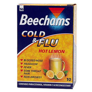 For the symptomatic relief of influenza, feverishness, chills and feverish colds including headache,