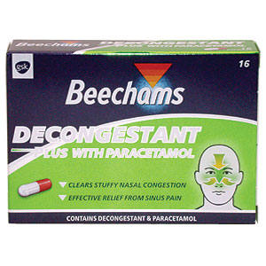 Decongestant capsule for the relief of symptoms as