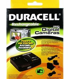 This Duracell camera battery charger with added USB socket (for iPhone iPod Blackberry etc) contains an internal rechargeable battery that allows you to charge devices without the need for a mains socket Can be recharged with supplied AC adapter car