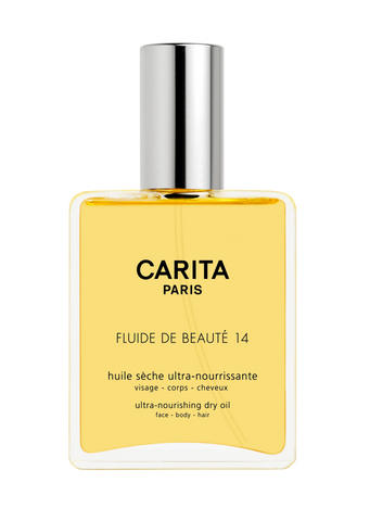 Nourishing and comforting oil, for face, body and hairThe flagship product of Carita, Fluide de