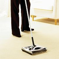 Cordless sweeper for quicker cleaning. When you ca