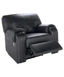 Modern style recliner in soft corrected grain leather.Foam-filled seat cushion and fibre-filled
