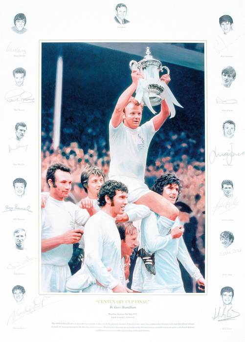 `Centenary Cup Final` by Gary Brandham - a limited edition of 500 prints signed by David Harvey