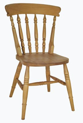 SOLID HIGH BACK BOSTON SPINDLE CHAIR