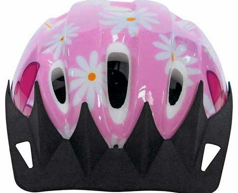 This Challenge Bike Helmet combines style and crucially. safety to make this very pretty kids bicycle helmet. Girly floral design with daisy print will make your little girl look fashionable as she rides. Designed to offer secure protection to the he