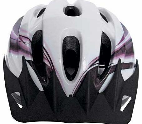 This womens helmet offers a stylish design and includes safety features for your protection and comfort. The adjustable dial fitting ensures a secure fit for head sizes 58 to 62cm. With 10 air vents and a quick release fastening. this comfortable hel