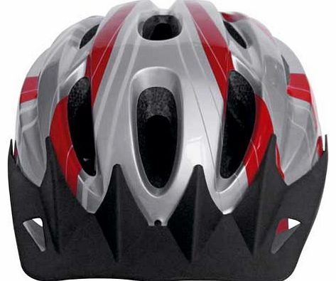This Challenge Bike Helmet combines style and crucially. safety to make this stylish bicycle helmet. Simple red and silver design will make you look good as you ride. Designed to offer secure protection to your head should a time come when you requir