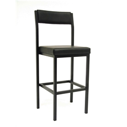High Stool with Back Rest Ideal for work benches  bars and checkouts Fabric is G5  Ignition Source