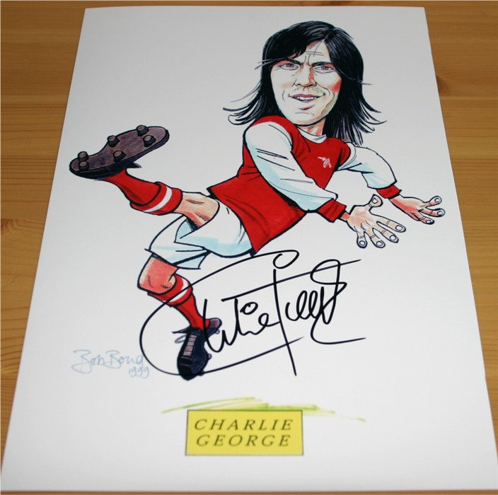 Signed clearly in black pen by the Arsenal legend Charlie George. COA - 0420000250/1/2