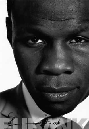 Chris Eubank has signed this black and white promotional photo clearly in black pen. The photo