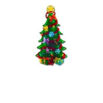 Showcasing a spot of festive cheer, this silhouette Christmas Tree light can turn even the sulkiest of Scrooges. The battery-powered LED structure brightens up walls and homes during the festive season.