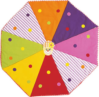 This beautiful floor quilt is a fabulous accessory for The Circus Big Top playhouse (click here)