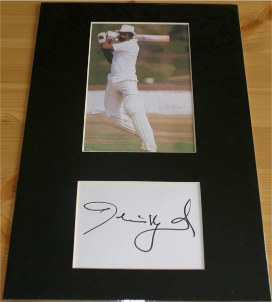 Excellent signature of former West Indian captain Clive Lloyd - hand signed in black pen. The item