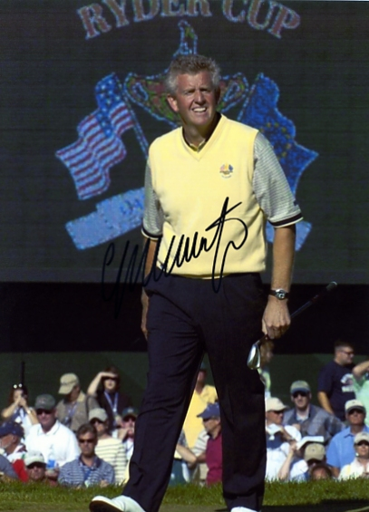 Signed in black pen by Ryder Cup star Colin Montgomerie. Certificate Of Authenticity no