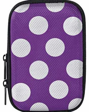 Compact Camera Case - Purple Polka Dot