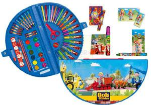 Everything you need for colouring your favourite builder Bob in a handy case