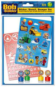 Create your own Bob the Builder designs with this gift set containing stickers stencil and stampers