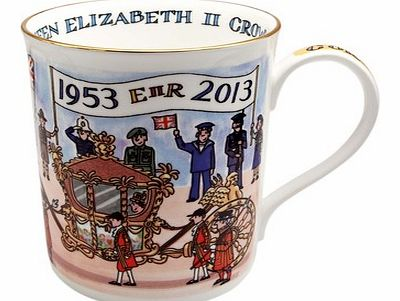Coronation Anniversary MugIntroducing the gorgeous handmade collectable Coronation Anniversary Mug from the Alison Gardiner Collection.This beautiful mug, made from English fine bone china brings alive the pageantry and sentiment of The Queens Corona