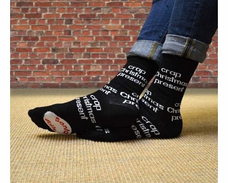 Crap Christmas Present SocksWell, the name says it all really - Crap Christmas Present Socks.A bit of a long standing joke with most families we think but dads usually are given socks for Christmas. Now you can, in a round about way tell him that you