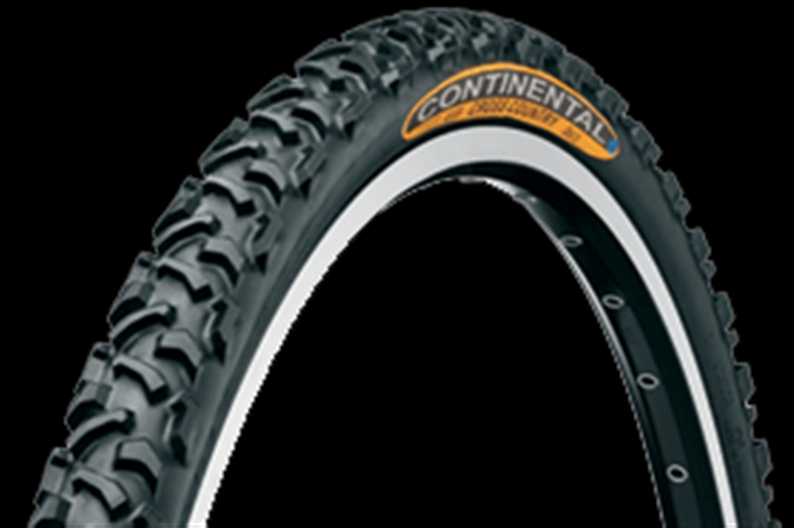 "Classic for mud and racing. Continental's Cross Country model comes in a 1.5"" width for"