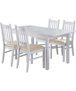 Cucina Off-White Dining Table and 4 Chairs - review ...