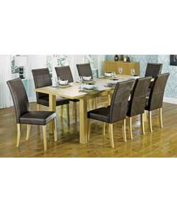Size of table (L)173 extending to 218, (W)90, (H)76cm.Size of chair (W)43, (D)60, (H)96cm.Butterfly
