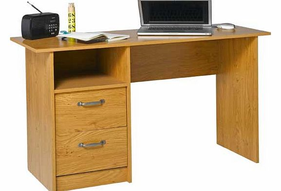 This office desk from the Dalton collection is finished with a stylish oak effect for a contemporary look. Featuring a drawer for helping to keep you organised and a work surface capable of holding laptops and PC monitors. Part of the Dalton collecti