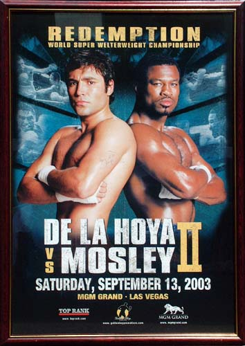 Mosley stunned the WBC/WBA super welterweight champion De La Hoya and many of the 16,268 fans in att