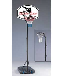 Basketball and netball system in one product.Allows you to play high speed basketball and switch to