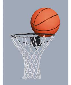 Complete with fittings and instructions for easy assembly.Supplied with official size basketball