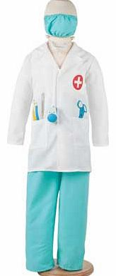 Bring on the on-call fun with this great four-piece costume. Included is a white printed jacket with pockets. trousers. a mask and a stethoscope so your junior doctor has everything they need to look the part. Perfect for parties or for dress ups at