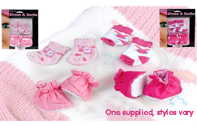 Socks and shoes to keep your baby doll warm! Great dolls clothes and accessories!