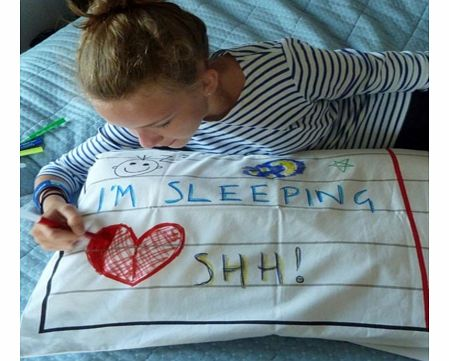 Doodle Pillowcase and Pen SetFollowing on from the great success of the Doodle Duvet, here is something else to help your little ones creative side.The Doodle Pillowcase is made from quality 100% superfine cotton giving your budding Picasso a great c