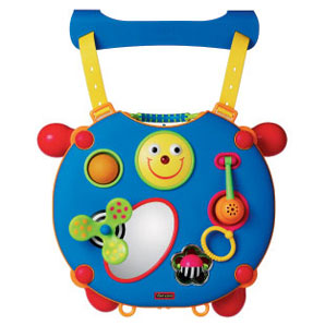 With 20 activities to interest your baby. Attaches to a playpen or cot and converts to a small activ