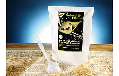 This British-made dry clean carpet powder was developed by technical experts, and has been used by professional carpet cleaning companies for years. Its amazingly powerful dry powder formula allows you to avoid all the risks of 'wet' carpet cleaning