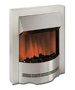 Elda Stainless Steel Electric Fire
