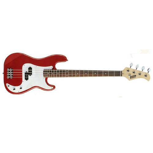 4 String Electric Bass Guitar in Red. A superior quality instrument at an ultra low price
